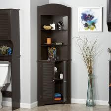 bathroom white 3 drawers corner linen cabinet for bathroom