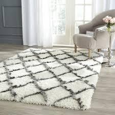 Shag Carpet Area Rugs Decorating Woven Ribbon Shag Rug 8 10 Multi Color Idea Shaw