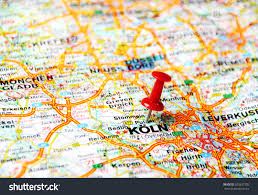 Dortmund Germany Map by Close Koln Germany Map Red Pin Stock Photo 203837305 Shutterstock