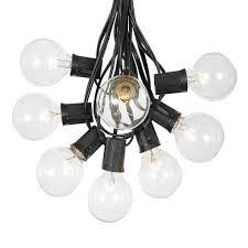 100 clear g50 globe string light set on black wire novelty