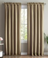Brentwood Originals Curtains Brentwood Originals Set Of 4 Solid Gold Faux Suede 50 X 84 Grommet