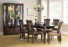 steve silver wilson contemporary dark brown rectangular dining