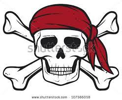 pirate skull bandana crossed bones stock illustration 107566058