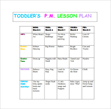 toddler lesson plan template u2013 10 free sample example format