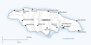 Printable North America Map by Vector Map Of Jamaica Political