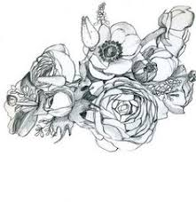 flower basket sketch flora in graphics pinterest skisser och