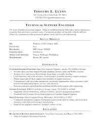 Sample Skill Resume by Customer Support Engineer Sample Resume Haadyaooverbayresort Com