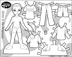 victor in the afternoon a boy paper doll simple free printable