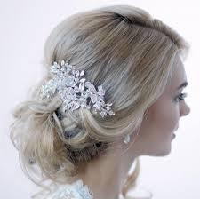 bridal hair clip swarovski hair clip silver hair clip bridal hair comb
