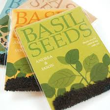 seed packet favors grow together basil seed packet wedding favors plantable seed