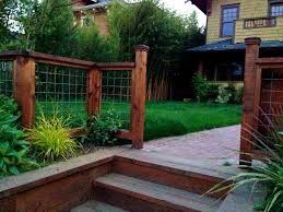 Front Yard Decor Exteriors Cute Front Yard Fence Ideas Safe And Durable Chain