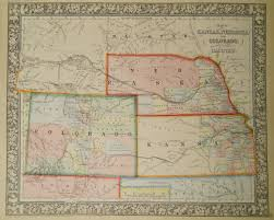 Map Of Nebraska And Colorado by Civil War Prints Events Of February 1861