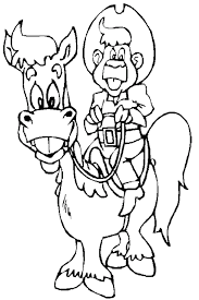 printable free rodeo cowboy coloring pages drawing print