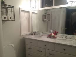 fixer upper bathroom style diy bathroom vanity from dresser crate
