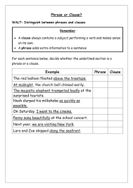 collection of solutions phrases and clauses worksheets pdf on job