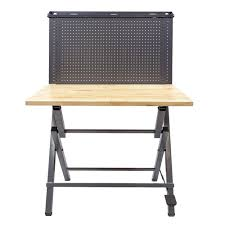 workbench with pegboard and light instant 44 in work bench with metal pegboard wb 01 the home depot