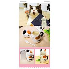 Animal Shaped Mugs Shaped Coffee Mug Cat Ceramic Mugs Coffee Mug With Spoon