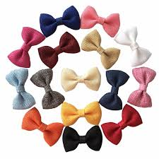 fabric bows 2 8 inch burlap hair bows girl s fabric bows without kid s