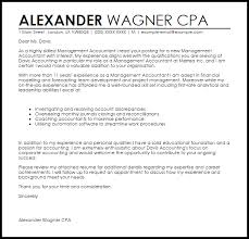 management accountant cover letter sample livecareer