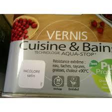 v33 cuisine et bain vernis cuisine bain satine incolore 0 50l mondecor