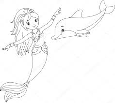 mermaid dolphin coloring sheets pages free u2013 iamsamlove