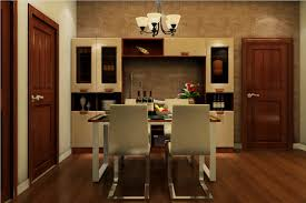 wooden doors design in dining room interior design
