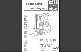 steinbock boss spare parts catalog forklift trucks manuals