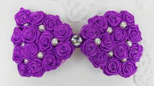 ribbon hair bow diy hair bow i ribbon roses bow tutorial i how to make hairbow i