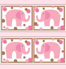 Pink And Brown Nursery Wall Decor Pink Grey Polka Dot Elephant Wallpaper Border Wall Decal Baby