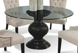 round glass top pedestal dining table serena round glass dining table by cmi dining room pinterest