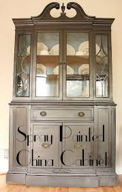 china cabinet in living room living room updates spray painted china cabinet makeover