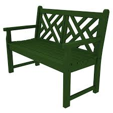 Plastic Loveseat Outdoor Commercial Quality Small Outdoor Bench Polywood Chippendale