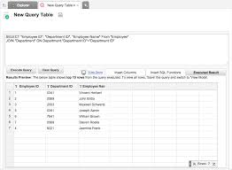 employee table sql queries relational data modeling