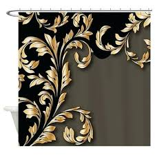 Brown And Gold Shower Curtains Black And Gold Shower Curtains Black And Gold Shower Curtain Black