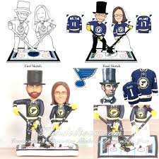 hockey cake toppers hockey cake toppers st blues wedding decorating ideas