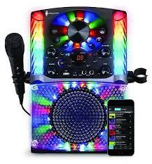 light up karaoke machine singing machine karaoke bluetooth system with microphone usb cd g