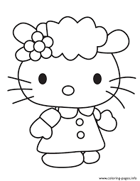 sanrio cute kitty friend coloring pages printable