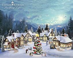 kinkade villages happy holidays