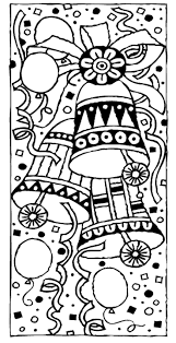 free christmas coloring bells coloring pages