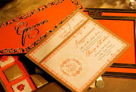 Wedding Card Invitations Voguish Wedding Invitations Elegant Orange
