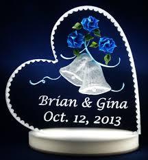 glass wedding cake toppers glass wedding cake topper casadebormela