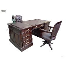 partner u0027s desk office writing table 180cm with matching victorian