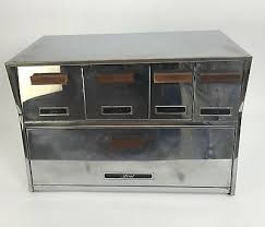 vintage kitchen canister bread box combo stainless steel retro