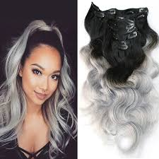 best shoo for gray hair for women 16 best clip in ombre human hair extensions images on pinterest