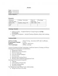 Manual Tester Resume Qtp Sample Resume For Software Testers Manager Test