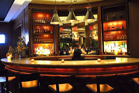 Furniture Restaurant Bar Design Ideas With Nice Pendant Lamp Wine - Bar interior design ideas