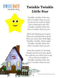 twinkle twinkle little star nursery rhyme lyrics free printable