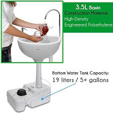 c sink with foot pump amazon com serenelife portable cing sink w towel holder soap