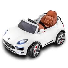 porsche macan white 12v electric kids car electric ride on rc remote control porsche