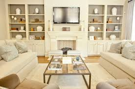modest decoration built in cabinets living room homey design built